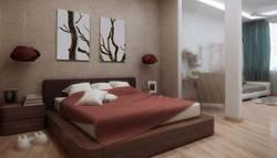 Дизайн интерьера спальни-гостиной в однокомнатной квартире