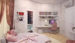 интерьер красивой спальни в смешанном стиле