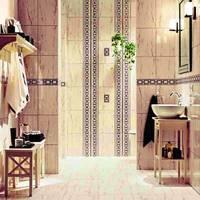 дизайн плитки в ванной комнате, классика