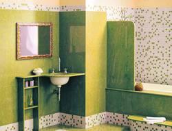 дизайн плитки в ванной и мозаики