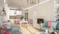 Дизайн 3-комнатной квартиры серии И-155, м. Коломенская