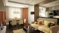 Дизайн четырехкомнатной квартиры в Одинцово