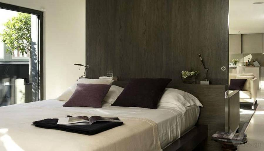 Дизайн таунхауса в Сочи, спальня