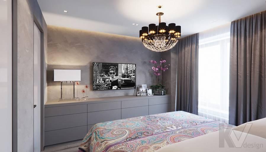 Спальня в проекте объединения квартир, Мытищи - 10