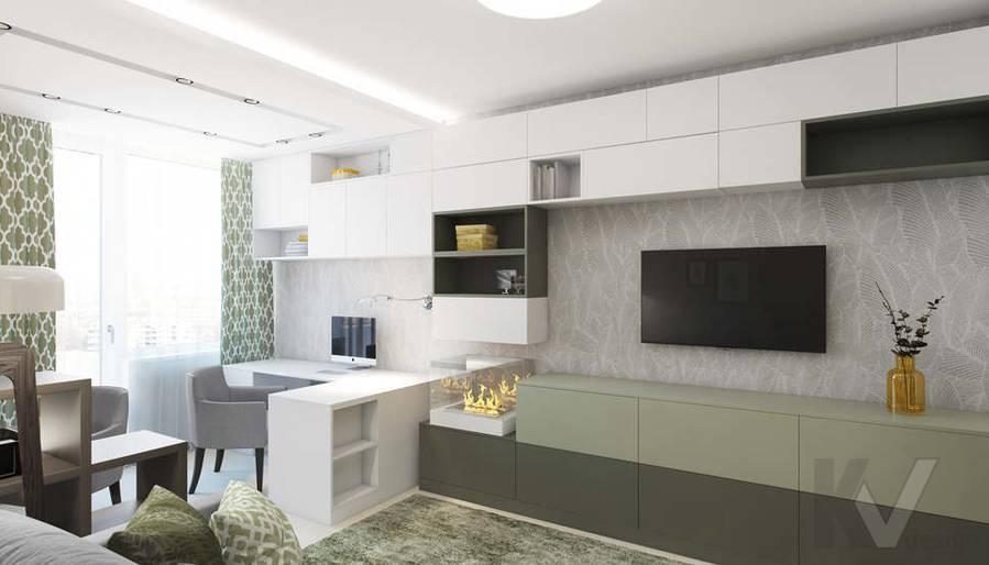 Дизайн гостиной в 3-комнатной квартире П-3М, Новое Ясенево - 4
