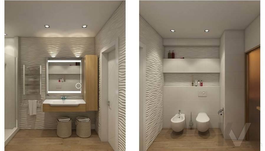 Дизайн ванной в 2-комнатной квартире в Мытищах - 2