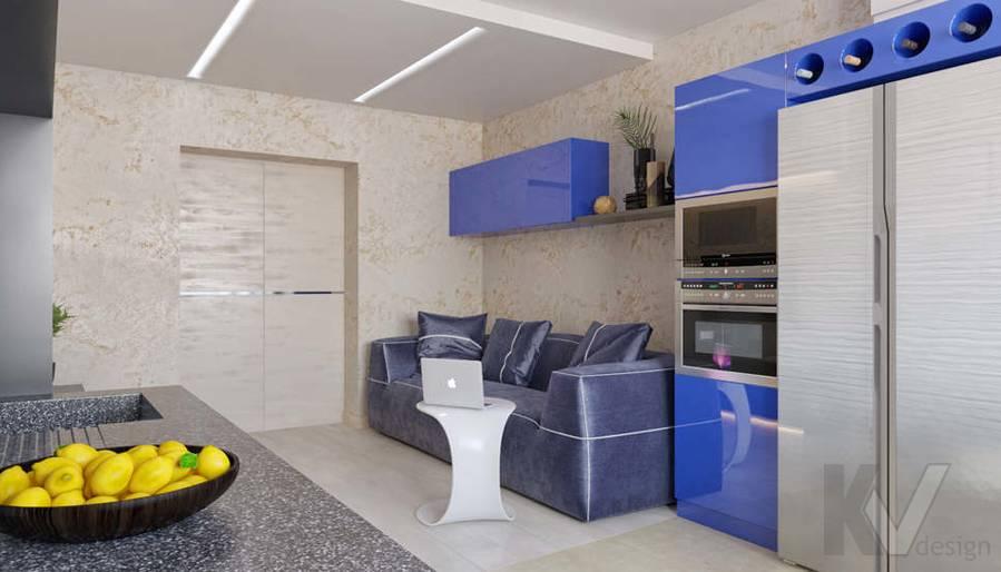 дизайн гостиной-кухни в 3-комн. квартире, ЖК Некрасовка Парк - 3