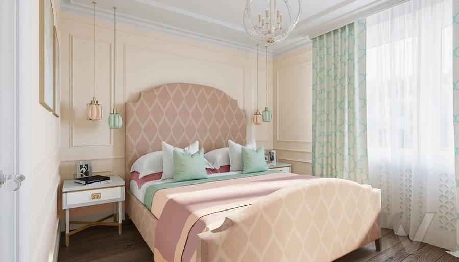 Дизайн спальни в квартире на м. Смоленская - 2