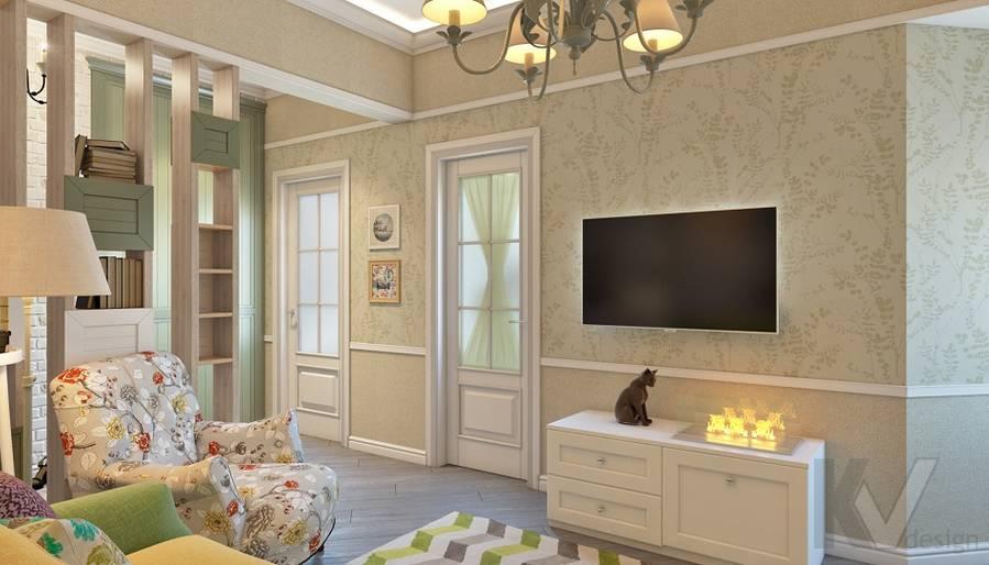дизайн гостиной в 3-комнатной сталинке, ВДНХ - 4