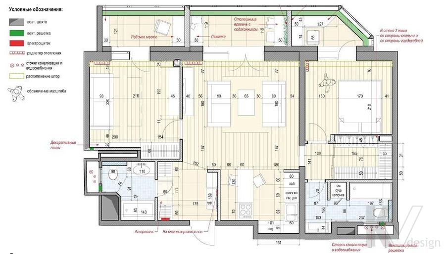 Перепланировка квартиры на Мосфильмовской