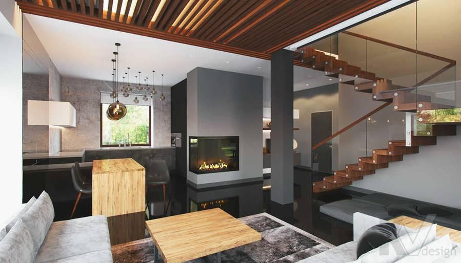 """Дизайн 1-го этажа в доме,  КП """"Западная Долина"""" - 5"""
