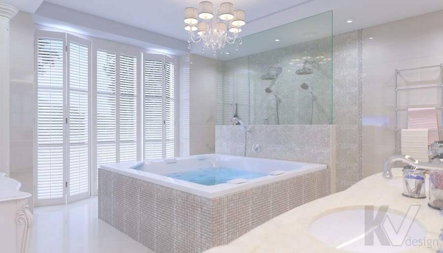 Дизайн ванной комнаты в доме, КП «Парк Авеню» - 1