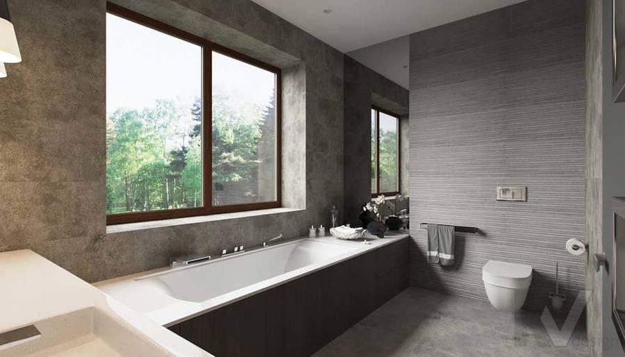 """Дизайн ванной в доме,  КП """"Западная Долина"""" - 2"""
