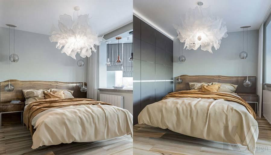 Дизайн спальни в двухкомнатной квартире, Сходненская - 4