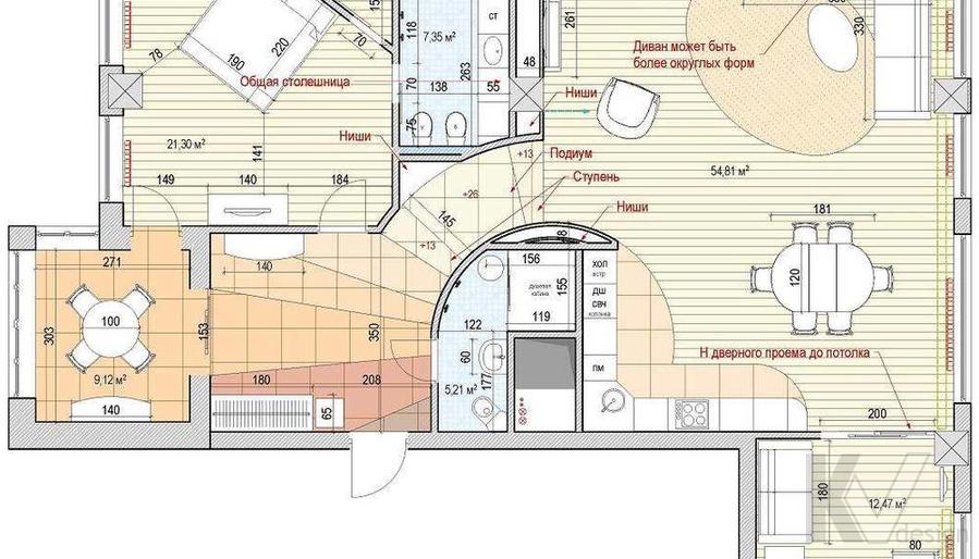 Дизайн квартиры на м. Смоленская, план