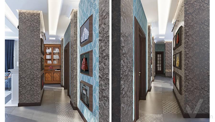 Дизайн гостиной-кухни в трехэтажном доме - 14