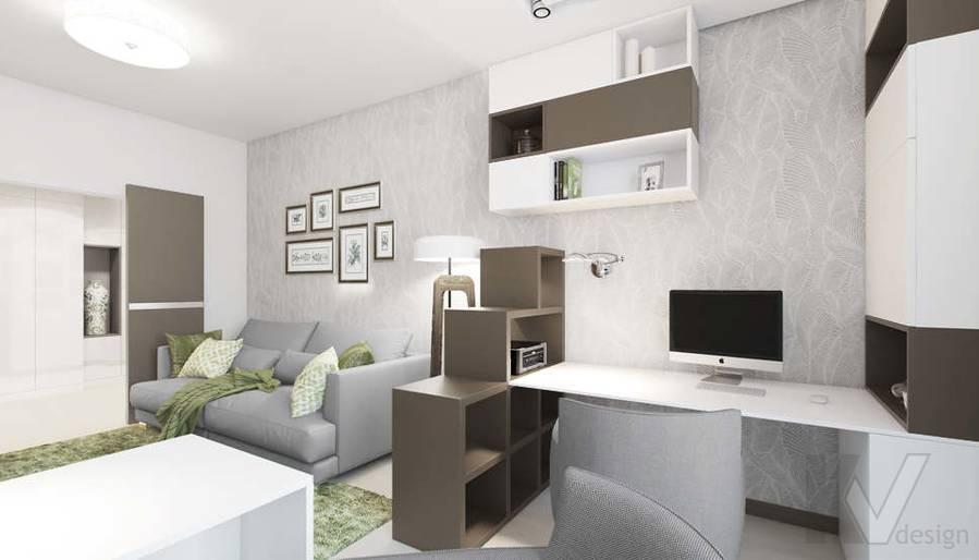 Дизайн гостиной в 3-комнатной квартире П-3М, Новое Ясенево - 2