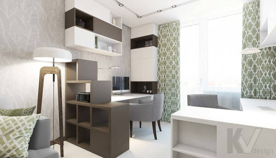 Дизайн гостиной в 3-комнатной квартире П-3М, Новое Ясенево - 3