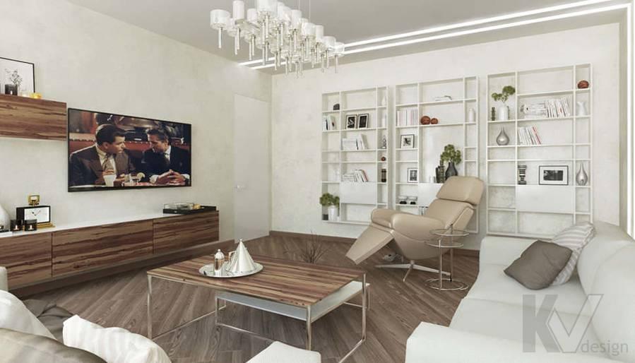 дизайн гостиной в 3-комнатной сталинке, Старый Арбат - 3