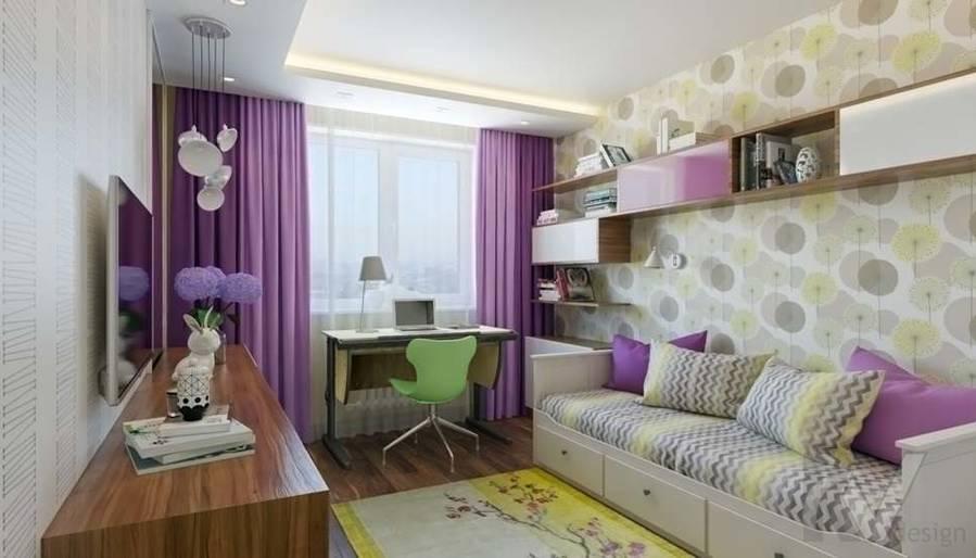 дизайн детской девочки в четырехкомнатной квартире П-3М - 2