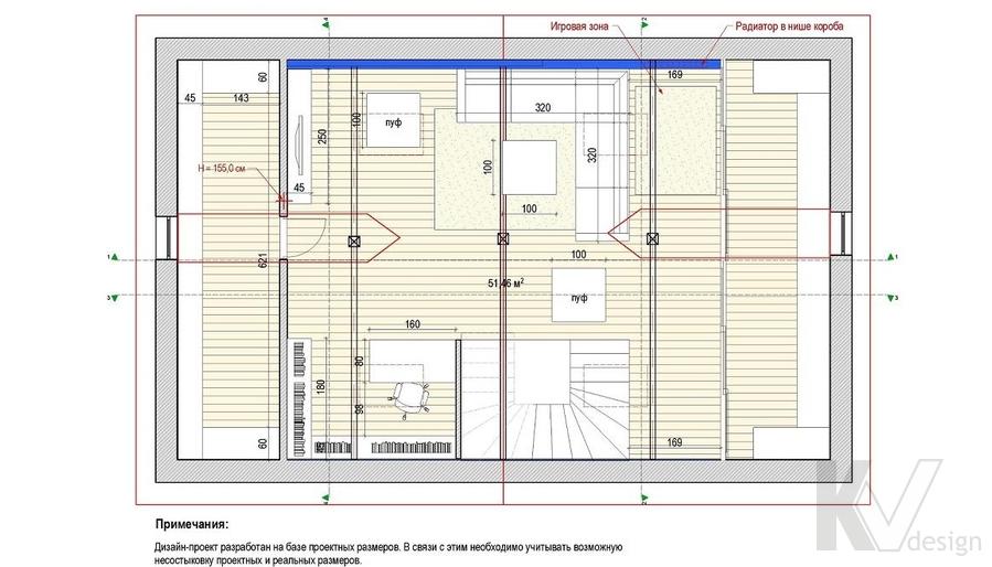Таунхаус в п. Павлово, планировка 2-го этажа