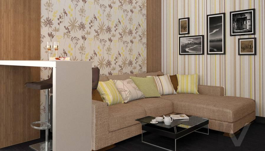Дизайн гостиной в двухкомнатной квартире, Подольск - 3