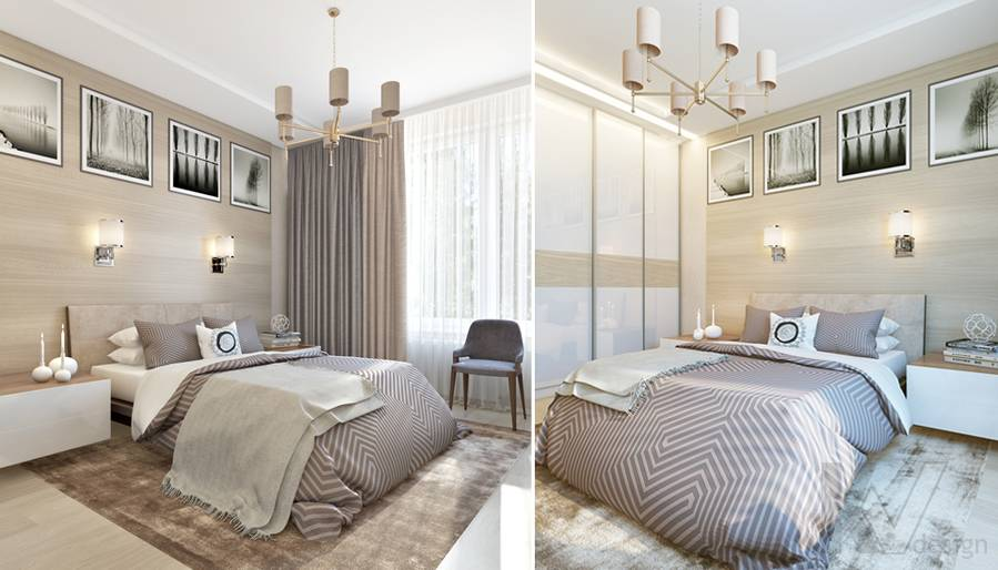 Дизайн спальни в квартире, ЖК Авеню-77 - 1