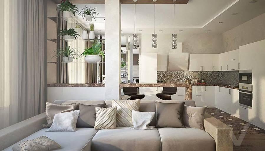 Таунхаус в п. Павлово, дизайн гостиной - 8