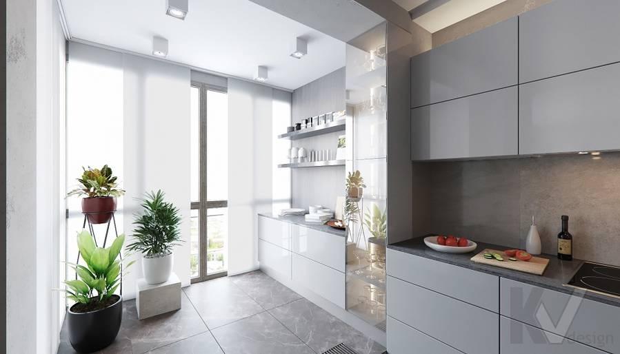 Кухня в проекте объединения квартир, Мытищи - 4