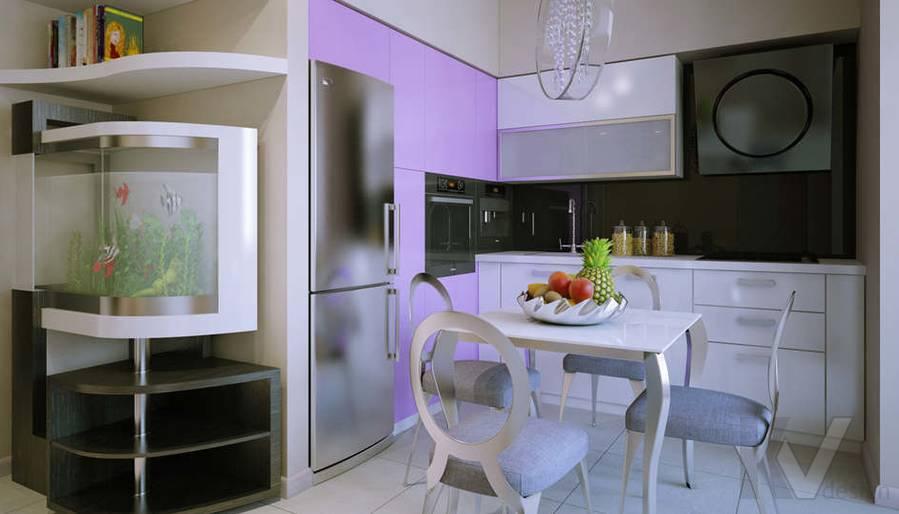 Дизайн кухни двухкомнатной квартиры - 2