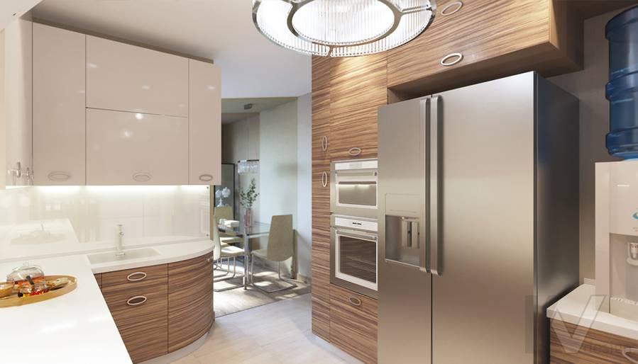 дизайн кухни в 3-комнатной квартире, Welton Park - 4