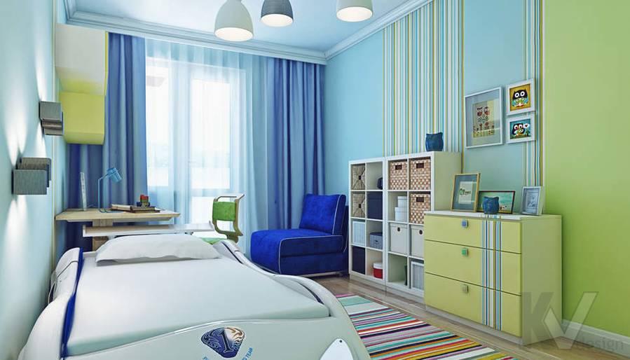Дизайн детской в квартире П-3М на Профсоюзной - 2