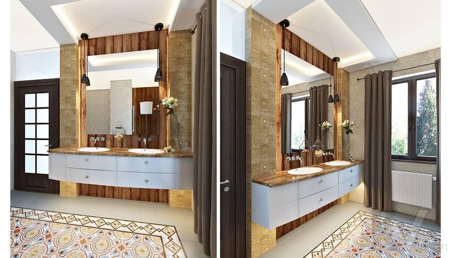 Дизайн ванной комнаты в трехэтажном доме - 3