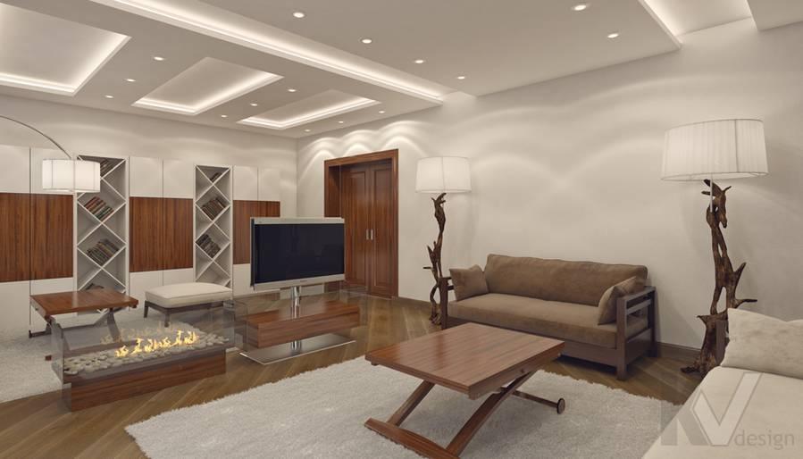 Дизайн гостиной в 4-комнатной квартире, м. Киевская - 3
