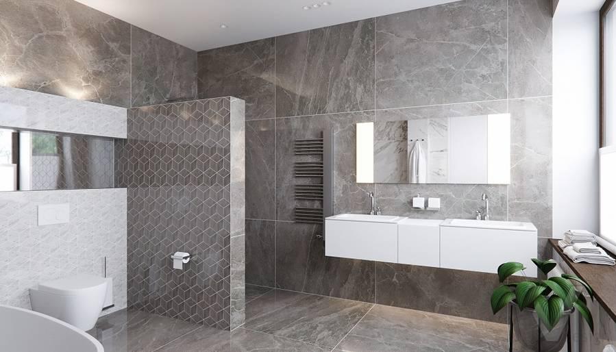 Ванная в доме в поселке Павлово - 1
