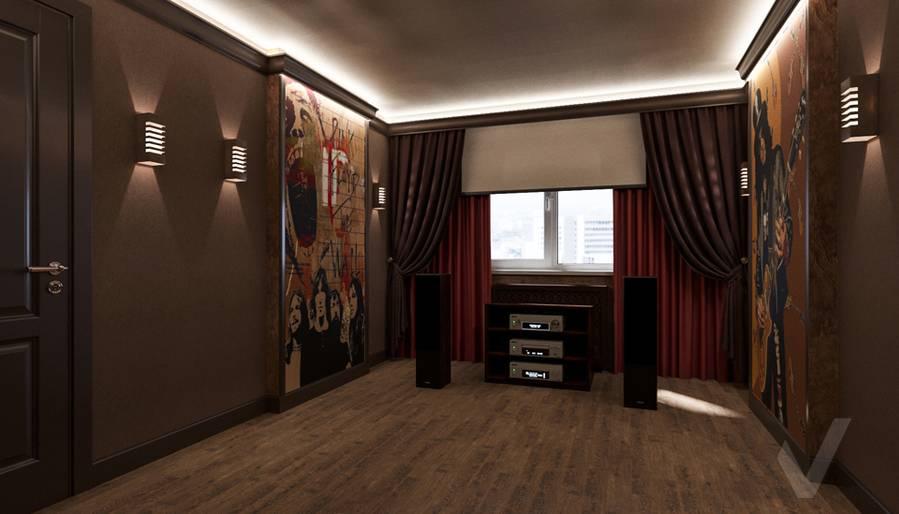 Дизайн комнаты отдыха в квартире П-44Т, Переделкино Ближнее - 4