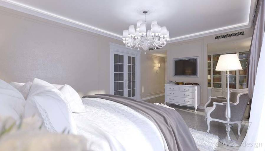 Дизайн спальни в доме, КП «Парк Авеню» - 2