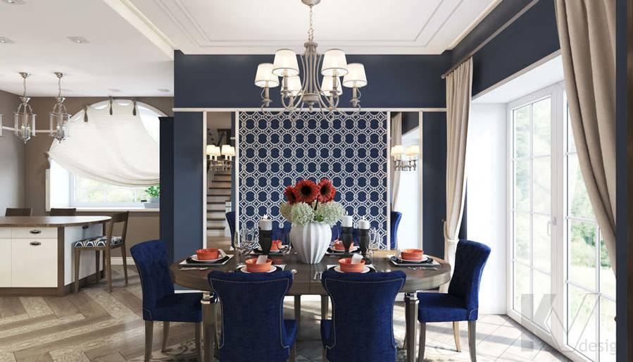 Дизайн столовой в коттедже, КП «Vita Verde» - 1