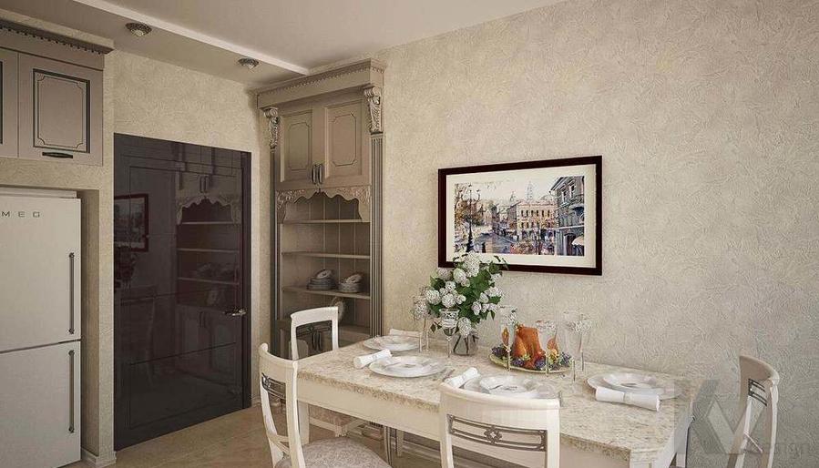 Декорирование квартиры в ЖК Квартал, кухня - 3