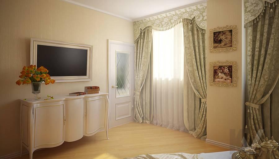 Дизайн квартиры на м. Смоленская, спальня - 3