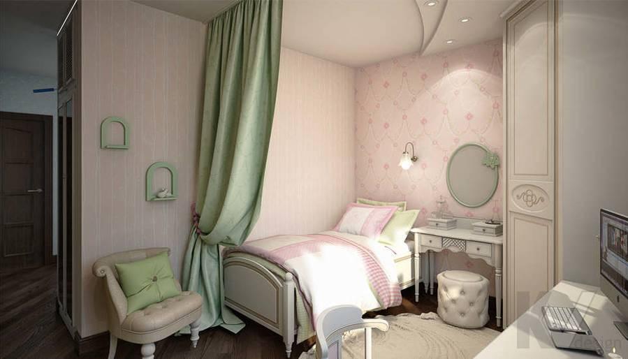 дизайн детской комнаты девочки, Одинцово - 2
