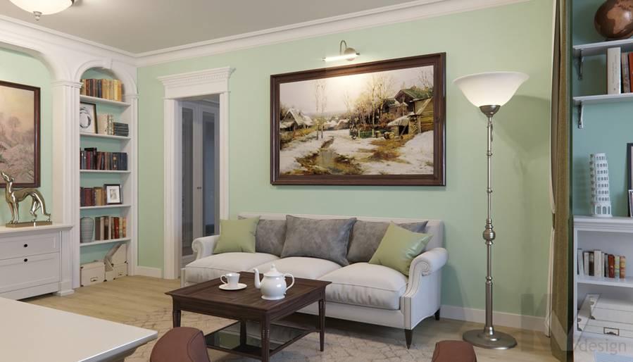 Дизайн гостиной в квартире в Крылатском - 4