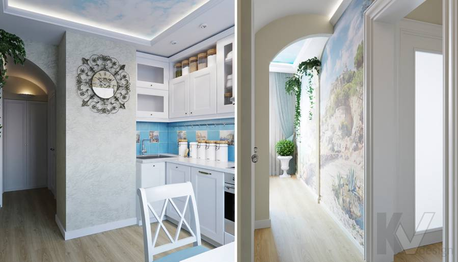 Дизайн кухни в квартире в Крылатском - 1