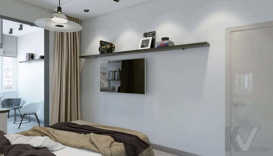 дизайн спальни в 3-комн. квартире, Москворечье - 2