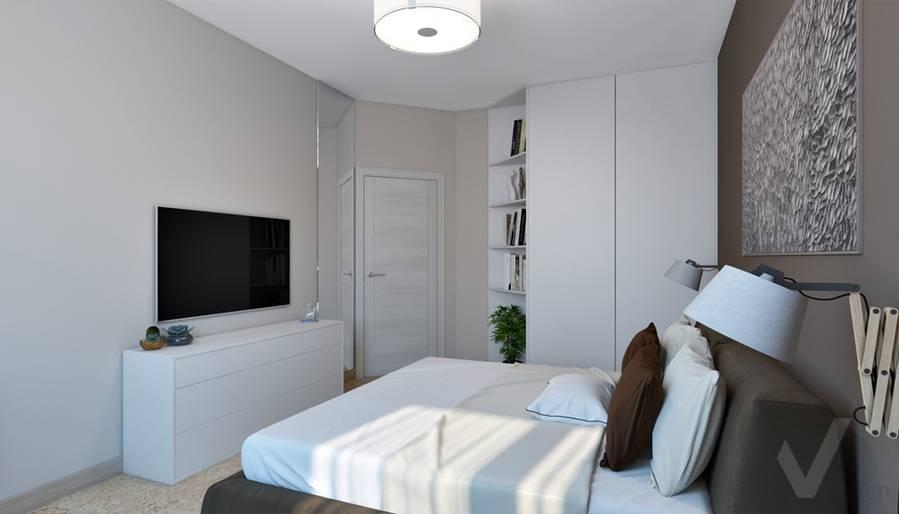 """Спальня в 4-комнатной квартире, ЖК """"Фили Град"""" - 3"""