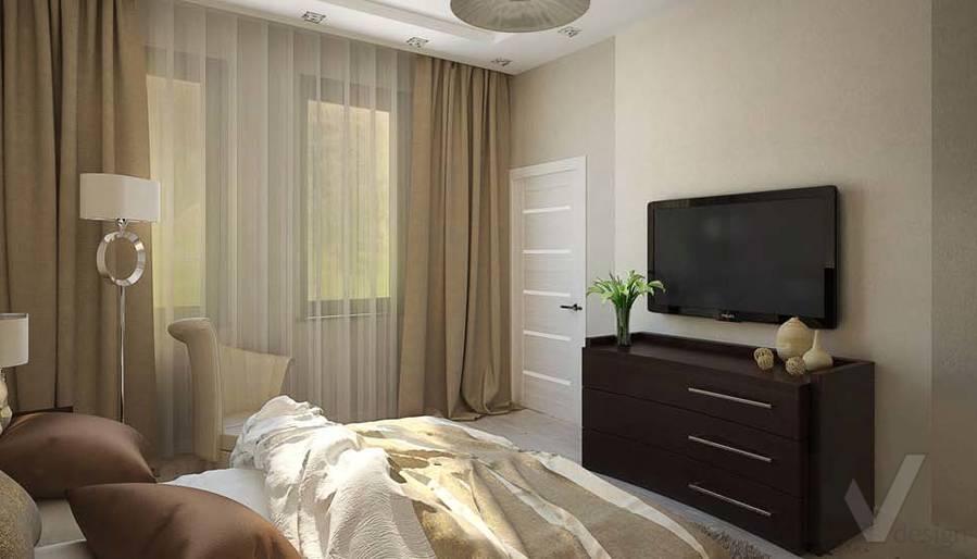 Таунхаус в п. Павлово, дизайн спальни - 6