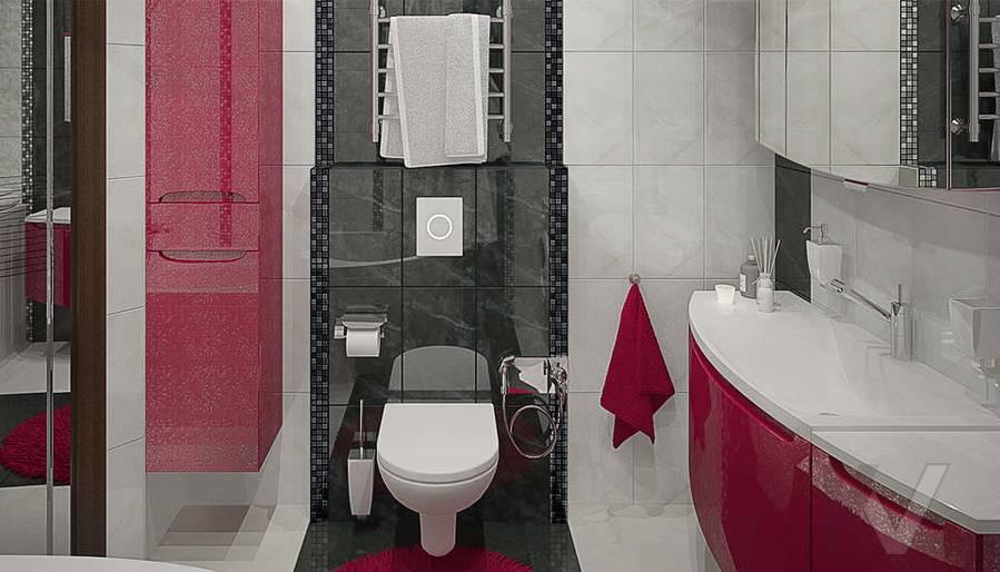 Дизайн ванной в 2-комнатной квартире - 2