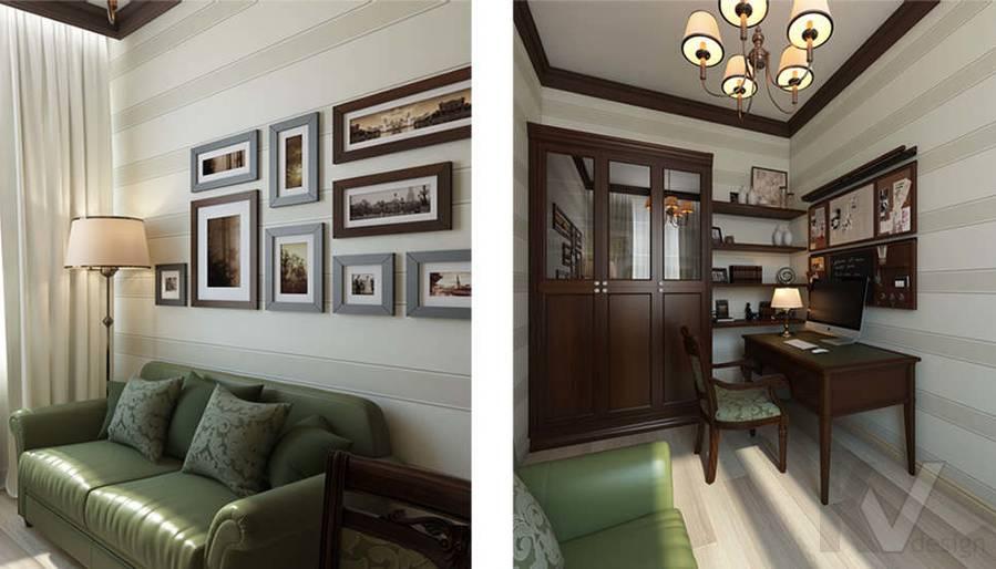 """Дизайн кабинета в 2-комнатной квартире, ЖК """"Авеню 77"""" - 1"""