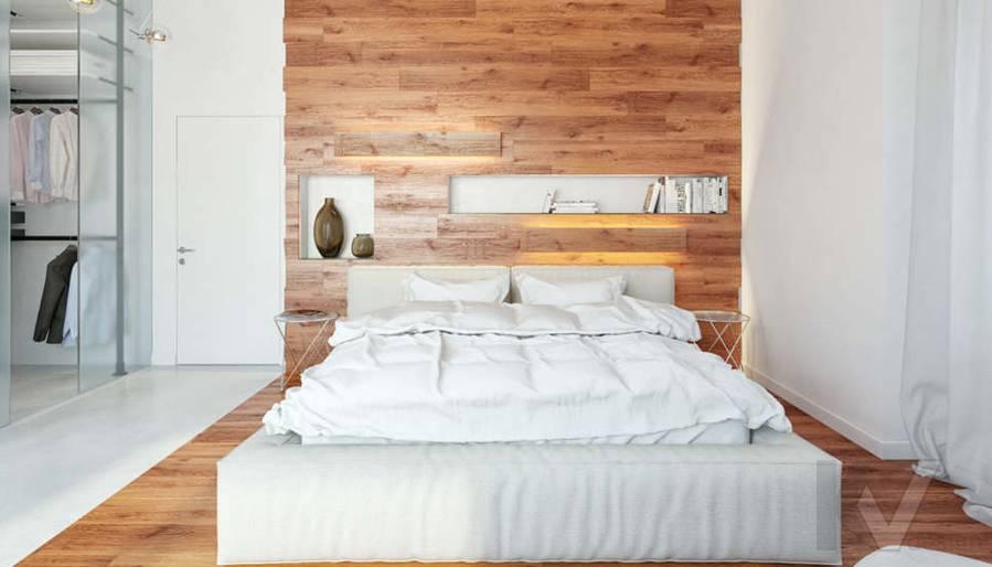 Дизайн спальни родителей в доме, КП Пестово - 1