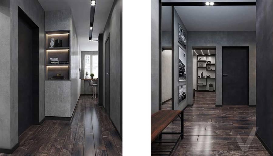 Дизайн прихожей в квартире П-44, м. Кузьминки - 2